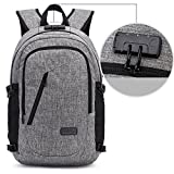 Laptop backpack, Travel Backpack with USB Charging Port, Anti-theft Laptop Water Resistant 15.6inch for Men &Women Black by ZZRS
