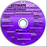 Ultimate Boot CD-DVD NEUE VERSION (NEU) / Notfall-CD-DVD für Windows 10 , Windows 8+7, Vista, XP Betriebssysteme System-Diagnose Tools -