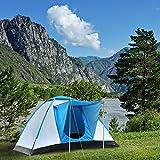 Semoo Tienda de campaña familiar con protección UV, en forma de iglú, para acampar, de fibra...