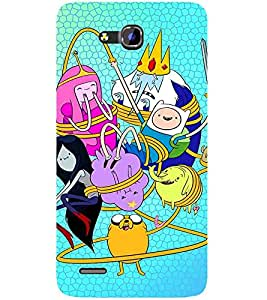 For Huawei Honor 3x Cartoon, Blue, Cartoon and Animation, Printed Designer Back Case Cover By CHAPLOOS