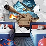 Leegt 3D Tapete Wallpaper Mural Benutzerdefinierte Wandbild Stereoskopischen 3D-Tanks Wand Papier Militärischen Themed Wallpaper Kreative Persönlichkeit Flugzeuge Hintergrund Foto Wallpaper 300cmX200cm