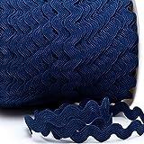 Zackenlitze, Uni 12 mm / 12 mm, col.405, marineblau, 2m, 100% Polyester