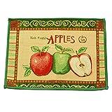 Vintage Fresh Picked Apples Fabric Non-slip Anti-skid Kitchen Bedroom Rug Runner Door Floor Mat Carpet (60x45cm/23.7x17.7