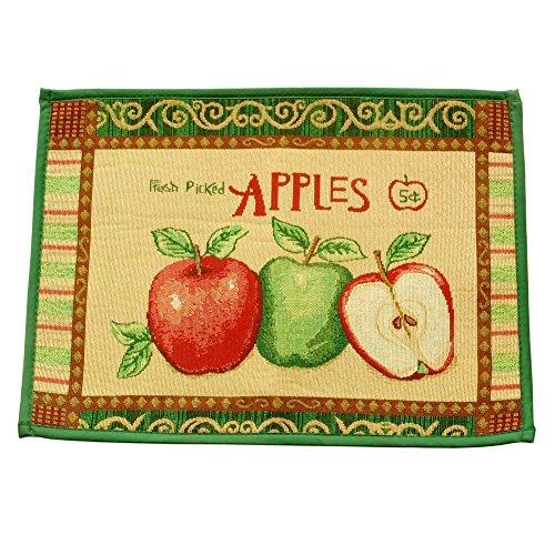 Vintage Fresh Picked manzanas tela antideslizante cocina dormitorio antideslizante alfombra puerta Felpudo alfombra