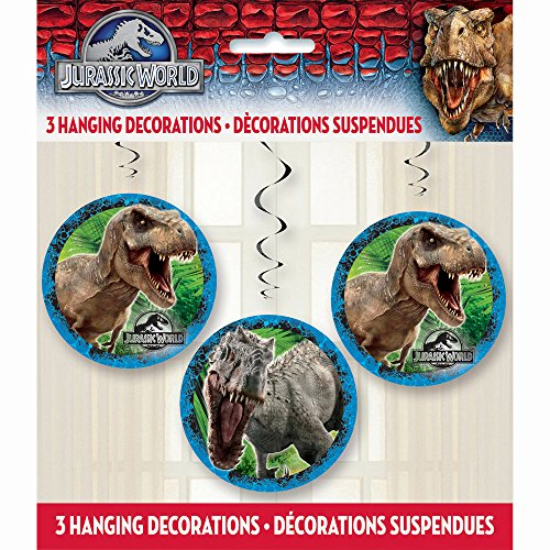 Jurassic World 3 teiliges Dekorationgirlanden Set - 3 pcs Hanging Decorations