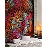 RajRang Cotton Tapestry Wall Hanging, 90x85-inch, Multicolour