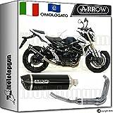 Arrow Auspuff Komplett Hom Racetech Aluminium Dark Carby Suzuki GSR 75020111171776AKN + 71444Ich + 71443Ich