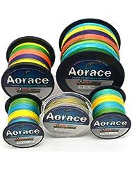 Aorace Braid línea de pesca 60LB fuerte y resistente a la abrasión línea de pesca de fibra 500M material multicolor avanzada Superline braied fishing line