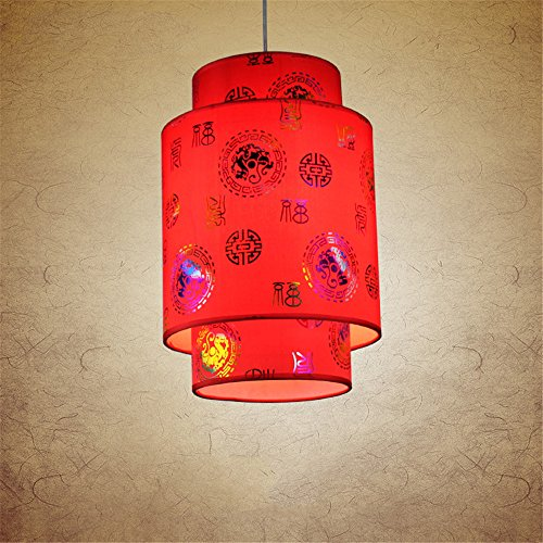 Home uk- antico cinese imitazione pergamena lampadario corridoio corridoio d'ingresso lampadari classici ( colore : diametro 25 cm )