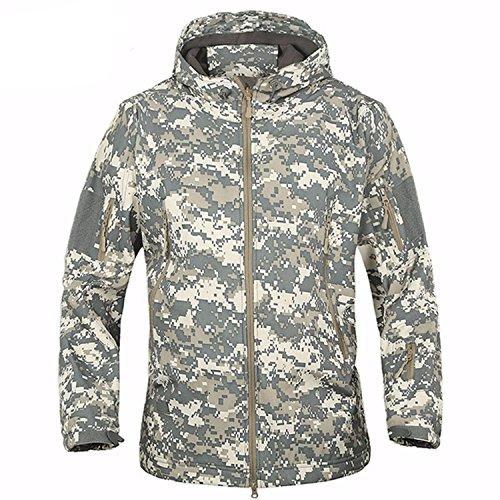 Belloo Herren Winter Fleecejacke Softshell Wasser- und Winddichte Jacke,ACU,S -