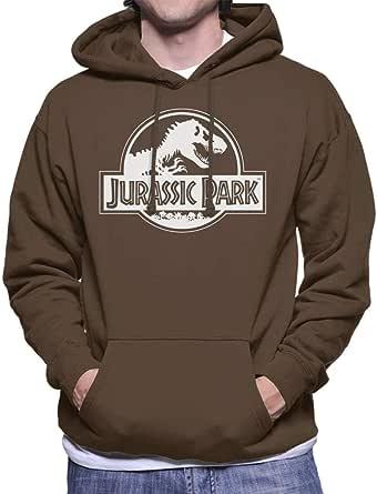 Jurassic Park Classic Black & White Logo Men's Hooded Sweatshirt