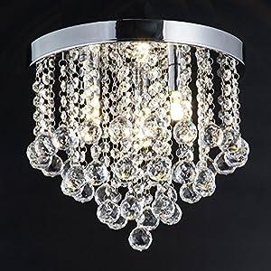 ZEEFO Kronleuchter, Moderne Stil Anhänger Kristallkronleuchter Mit  Elegantem Design, Feine Kristall Deckenleuchte Für