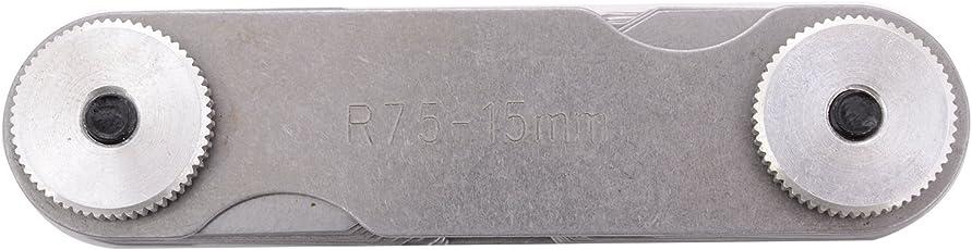 MGW Precision RG15 Radius Gauge Set 7.5-15mm, Silver