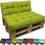 PROHEIM Outdoor Palettenkissen Lounge Palettensofa Indoor/Outdoor schmutz- und Wasserabweisende Palettenauflage Palettenpolster für Europaletten, Farbe:Apfelgrün, Variante:Kurzes Rückenkissen
