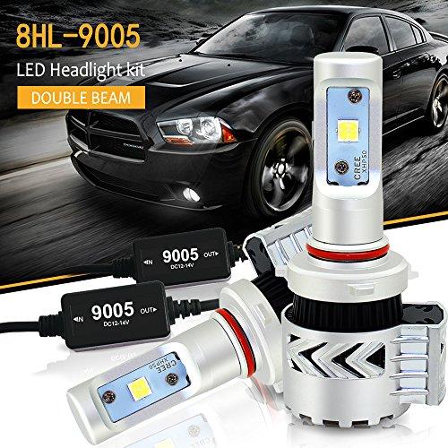 9005 HB3 H10 LED Scheinwerfer Tagfahrlicht Leuchtmittel Leuchten Abblend oder Fernlicht mit Canbus für Auto KFZ Ersetzt Xenon Halogen Glühbirnen Beleuchtung Nebel Lampen Birnen Licht 6000LM 12V-24V (2001 Toyota Camry Lichter)