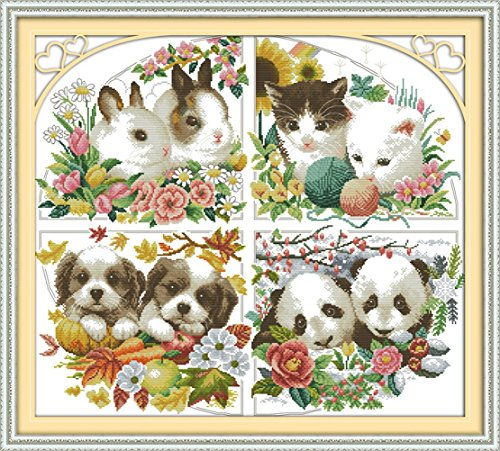 yeesam-artr-new-cross-stitch-kits-advanced-four-seasons-animal-14-count-62x56-cm-white-canvas-needle