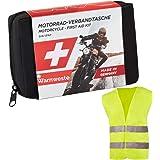 Trousse de Secours pour Moto GoLab - Petite et compacte, kit de Premiers Soins pour Motards Conforme DIN 13167 avec Gilet de