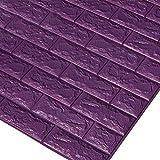 3D Backstein Tapete, Abnehmbare Peal und Stick PE Foam Wandaufkleber für Wohnzimmer Home Office,#6