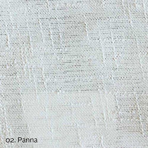 Giosal tessuto bouclè al metro tinta unita finto lino tappezzeria tende tendaggi panna-al metro