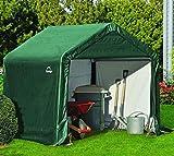 ShelterLogic Foliengerätehaus, Gerätehaus in-a-Box grün 3,24m² // 180x180cm (LxB) // Foliengarage und Aufbewahrungsgarage