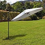 Ultranatura Ampelschirm, mit Kurbel, als Balkonschirm, Gartenschirm oder Marktschirm nutzbar, besonders groß und standfest, Farbe: beige - 6