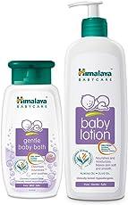 Himalaya Baby Lotion, 400ml and Gentle Baby Bath, 200ml