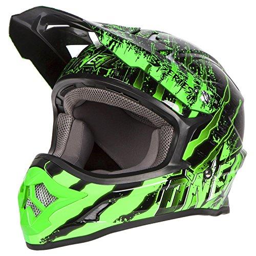 Oneal 3 Series Mercury Motocross Helmet XXL Black Green 0603-606