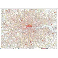 Huge XYZ Postcode Sector Map - Greater London: Paper Wall Map