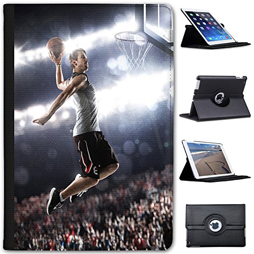 Basketball-superstar (Superstar springt zu Basketball-Korb Case Cover / Folio aus Kunstleder für das Apple iPad Mini 4)
