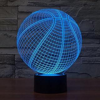 Alisabler 3D Lamp Light bulb Night 7 Color Change Best Gift Night Light LED Furnish Desk Table Lighting Home Decoration Toys