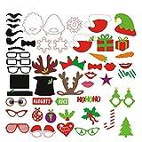 OUNONA 50 Stück weihnachtliche Fotorequisiten Fotoaccessoires für stimmungsvolle witzige Bilder zur Weihnachtszeit, die sich auch hervorragend als dekoratives Element eignen