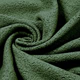 Stoff Baumwolle Polyester Fleece oliv Baumwollfleece