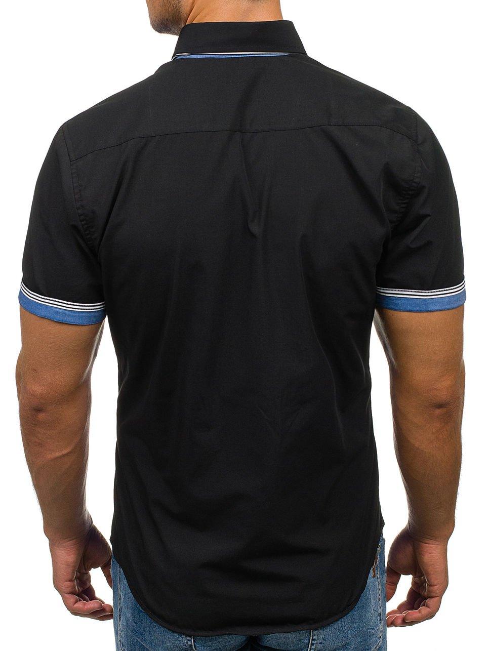 BOLF Herren Kurzarm Hemd Herrenhemd Slim Fit Casual Style 2B2   Amazon 423fd32c2e
