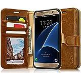 Etui Samsung Galaxy S7 Edge, Labato Housse Portefeuille Coque de protection à Clapet en Cuir Fonction Support Fermeture magnétique avec Emplacements de Cartes pour Samsung Galaxy S7 Edge, THE-S7E-02Z20-FR (Brun)