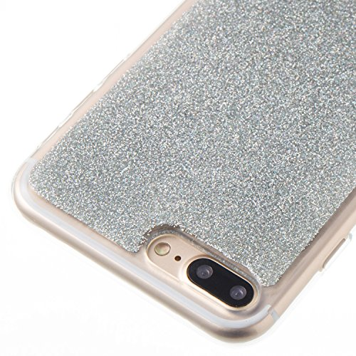 Custodia iphone 7 Plus / iphone 8 Plus, iphone 7 Plus / iphone 8 Plus Cover, iphone 7 Plus / iphone 8 Plus Custodia Silicone,Cozy Hut Case Cover per iphone 7 Plus / iphone 8 Plus, Shiny Sparkly Bling  argento
