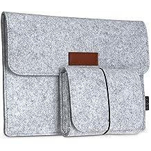"""dodocool 12 pulgadas Cubierta de fieltro Funda para Macbook con Bolsa de ratón para 12"""" Apple MacBook / 11"""" MacBook Air /12"""" Surface Pro 3 color gris"""