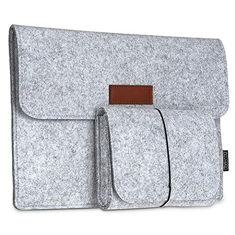 dodocool 12 Zoll Laptop Sleeve Hülle Tasche Tragetasche Filz mit Mini Beutel für 12 inch Apple MacBook Ultrabook Laptop