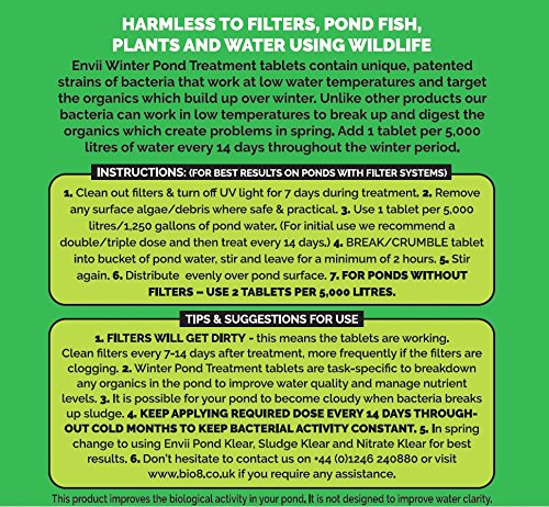 Envii Winter Pond Treatment – Winter Pond Treatment Reduces Sludge and Improves Water Clarity – Treats Up To 45,000… 2