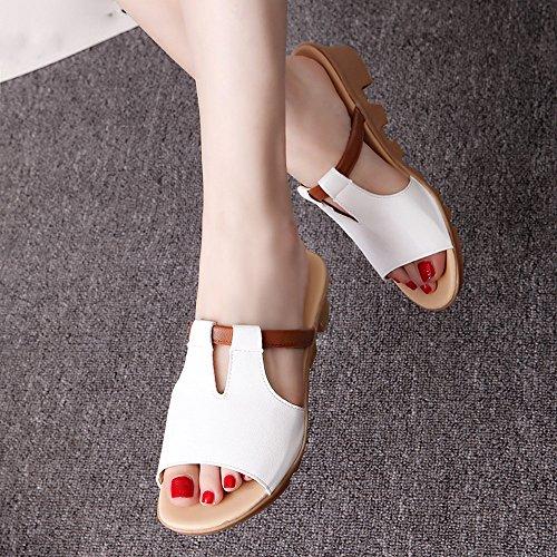 Longra Femme Pantoufles Décontractées Anti Slip Blanc