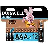 Duracell Ultra AAA con Powerchek, Pilas Alcalinas, paquete de 12, 1.5 Voltios LR03 MX2400