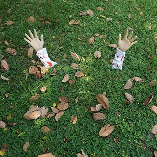 JOYIN realistisch aussehende blutiger arm Halloween Yard Rasen Stakes, groundbreakers für Halloween Yard Dekorationen -