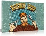 Hipster Barber Shop Schild Bild auf Leinwand print, A2 61x41 cm (24x16in)