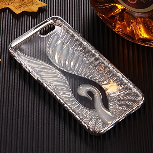 Phone case & Hülle Für iPhone 6 / 6s, Embossed Swan Pattern Galvanisieren TPU Schutzhülle Fall ( Color : Silver ) Silver