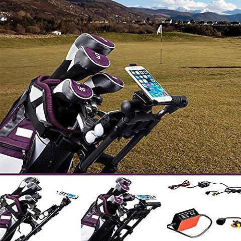 Carrello da Golf Ultimate Addons Pro con staffa di fissaggio per Garmin Kit caricatore e apposito supporto per Apple iPhone 6 Plus