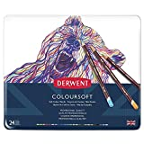 Derwent Coloursoft Colouring Pencils, Set of 24, Professional Quality, 0701027 - Multicolour
