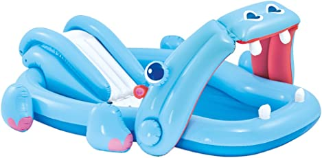 Intex Wading Pool with Slide, Blue