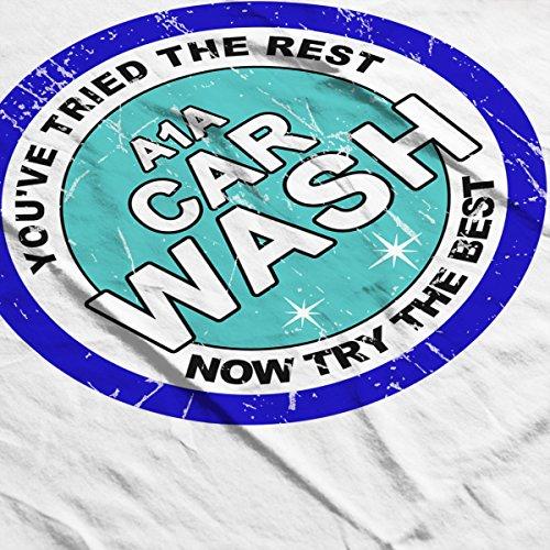 A1A Car Wash Breaking Bad Men's Baseball Long Sleeved T-Shirt White/Royal