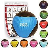 POWRX - Palla Medica 7 kg + PDF Workout (Blu)