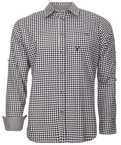 Trachtenhemd Hannes (XL, Schwarz)
