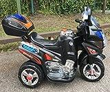 Kinder Motorrad Elektrofahrzeug Polizei Bike Kindermotorrad Elektromotorrad (Schwarz) - 2
